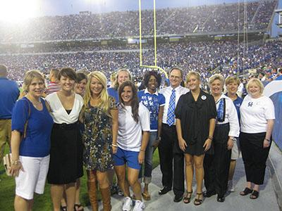 UK Plaid Recognition in 2008 during a football game halftime