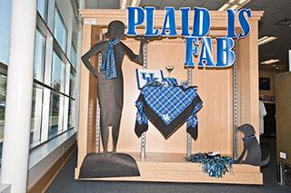 Plaid is Fab window display