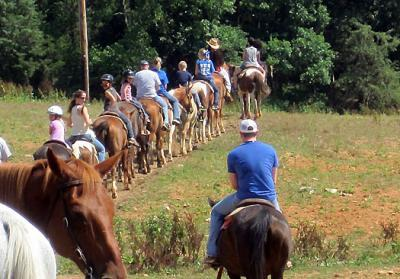 Horseback riding was one of the events at the 2014 camp at Mammoth Cave. Photo courtesy of UK extension military programs.