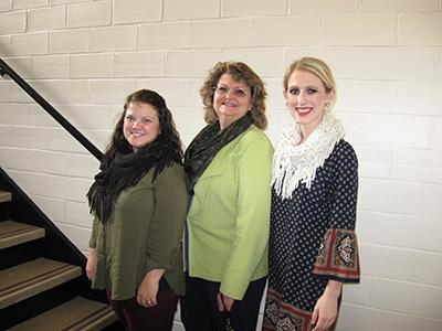 Brittany Bowling, Leslie County FCS Agent; Dr. Cherry Kay Smith, FCS Extension Program Leader; and Karli Jessie, Jessamine County FCS Agent