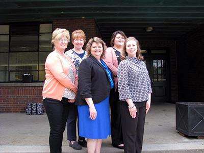 Sue Hughes, Robertson County FCS/4-H Agent; Cathy Jansen, Carroll County FCS Agent; Dr. Cherry Kay Smith, FCS Extension Program Leader; Lora Davidson, Harlan County FCS Agent; and Danielle Ford, Marion County FCS Agent