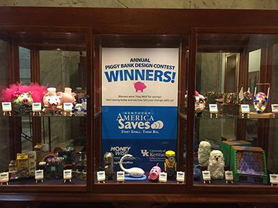 Display of 2017 Piggy Bank Winners
