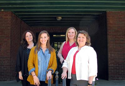 Front row:  Sarah Sumpter-Martin County FCS Agent,   Dr. Cherry Kay Smith-FCS Program Leader Back row:  Amy Fugate-McCreary County FCS Agent, Heather Cheek-Mason County FCS Agent.