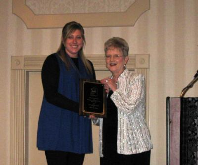 Betsy Ann Tracy received the KAFCS New Achiever Award for 2009.
