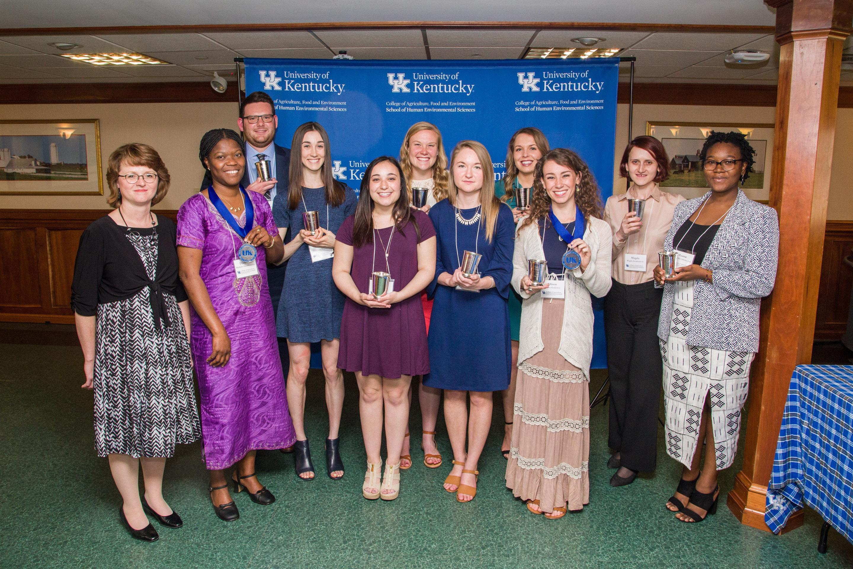 School of HES Honors 2018 Students of Excellence and Distinction recipients