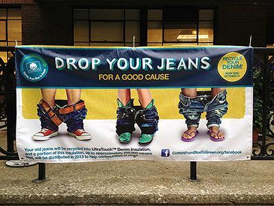 Drop Your Jeans For a Good Cause Banner
