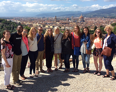 Students and Faculty in Florence Italy