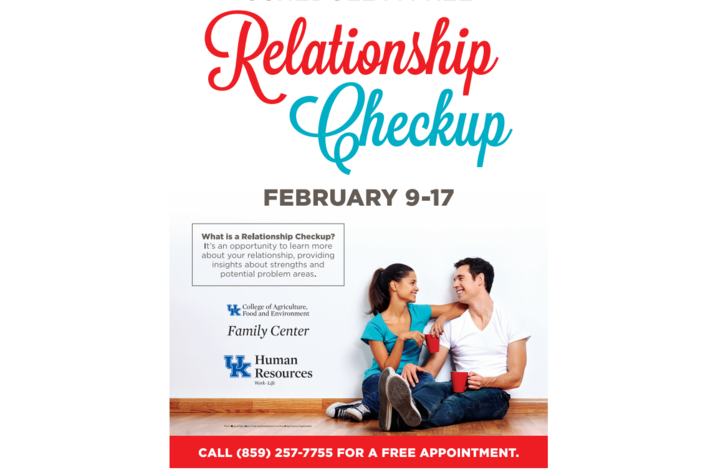 Schedule a free Relationship Checkup Feb. 9-17 with UK Family Center.