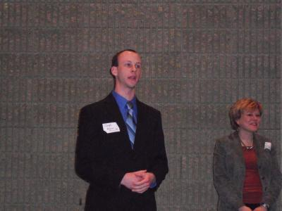 Joseph Higgins, graduate student in the Nutrition and Food Science (NFS) department, and Dr. Mary Roseman