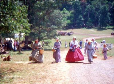 Historical re-enactors at a Grant vs. Lee Re-enactment in Brandy Station, Va.