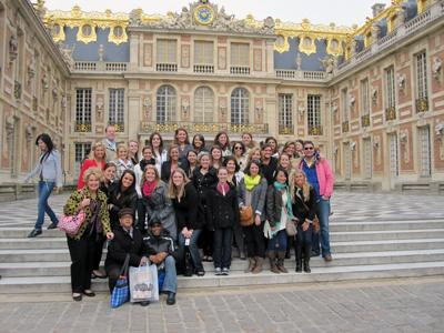 Thirty students in the School of Human Environmental Sciences traveled to Paris, France to study abroad this past spring break