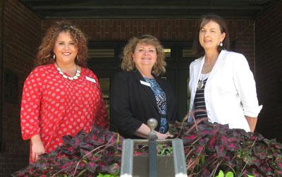 Morgan (left) and Kay (right) are pictured with Dr. Cherry Kay Smith (center), Family and Consumer Sciences Extension Program Leader.