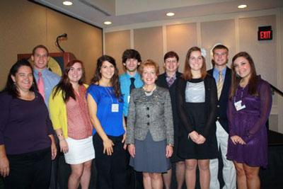 Member of the Iota Chapter gather with National Honorary Member Inductee Marianne Smith Edge at the 2012 National Conclave