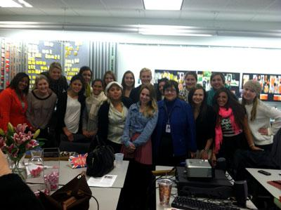 2013 MAT study tour group with Macy's Director of Color Services, Jean Hoskin