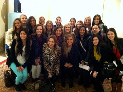 2013 MAT study tour group at Kleinfeld Bridal in New York City
