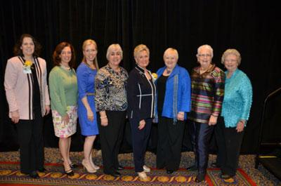 Pictured from left to right: Representative Tanya Pullin, Marci Hicks, Liz Toombs, Kathy Jansen, Patricia Brantley Todd, Ann Vail, Nancy Wills and Myra Leigh Tobin