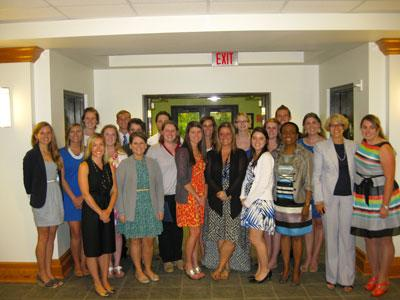 Faculty members with Dietetics Interns