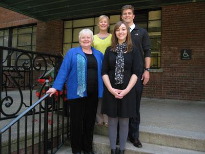 Dr. Vail, Mary Higginbotham, Cabrina Buckman, and Luke Fries