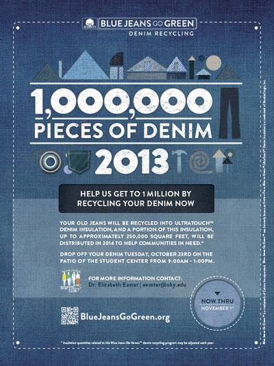 Help us get to 1 million byr recycling your denim now