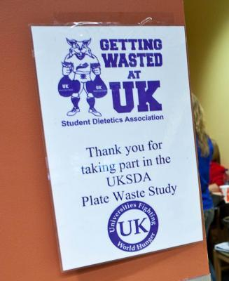 Getting Wasted at UK sign