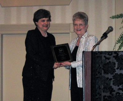 Sally Mineer, Lewis County Extension Agent for Family and Consumer Sciences, was awarded the KAFCS Leader Award.