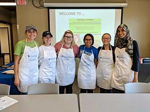 Students at the Farm-to-Fork, Free locally sourced lunch for Wildcats