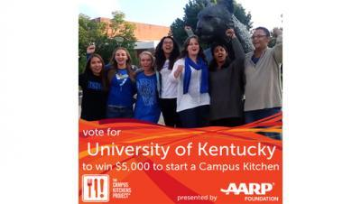 Vote for University of Kentucky to win $5,000 to start a Campus Kitchen