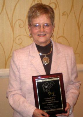 Ginny Ellington, instructor in the Department of Family Studies, has been awarded the Association for Career and Technical Education (ACTE) Region II Outstanding Career and Technical Educator Award.