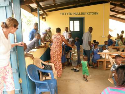 Meal time at the Kentucky Acadamy in Ghana