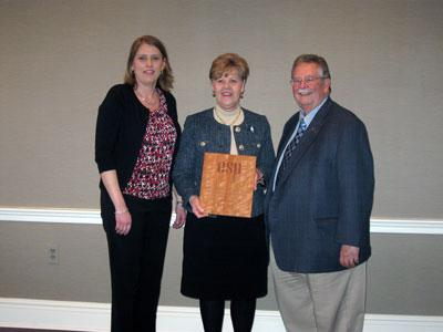Dana Anderson, ESP President, Representative Rita Smart, and Steve Howerton, ESP Retiree Chair
