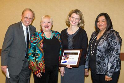 Jennifer Hunter (2nd from right), Extension Faculty in the UK Department if Family Studies, recieved the Outstanding New Extension Faculty Award during the Annual KASEP (Kentucky Association of State Extension Professionals) Awards