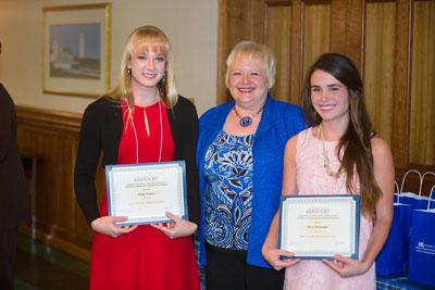 Mary Boulanger and Emily Rogers with Dr. Vail