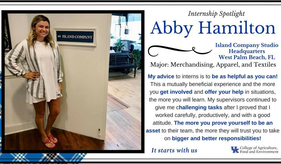 Internship Spotlight: Abby Hamilton