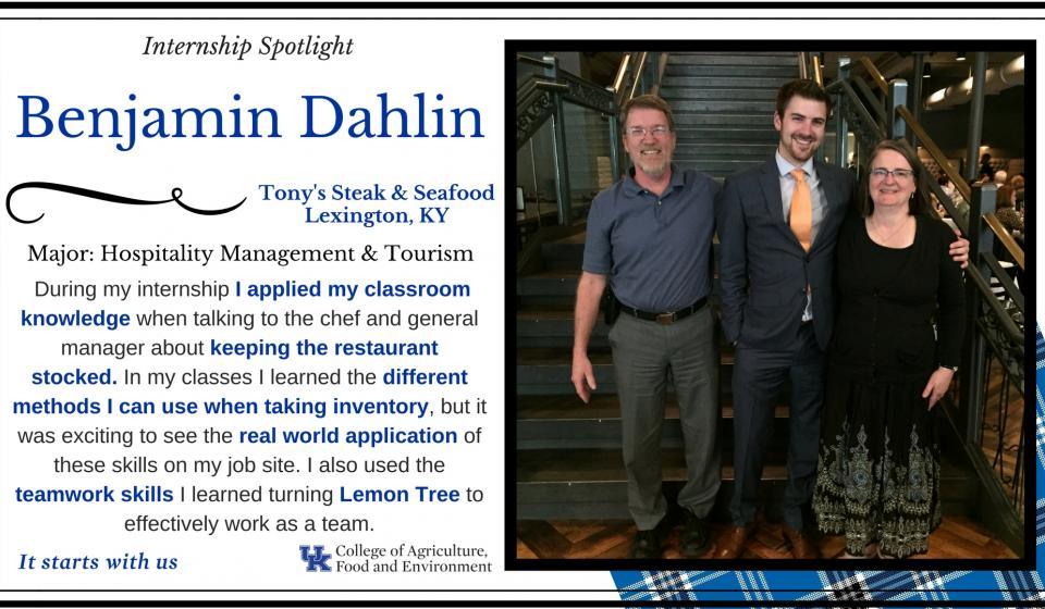 Internship Spotlight: Benjamin Dahlin