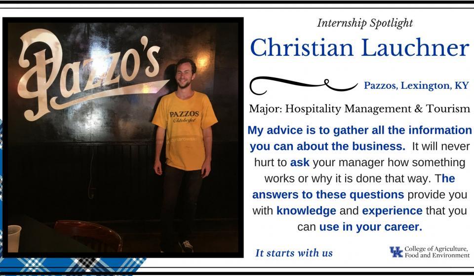 Internship Spotlight: Christian Lauchner