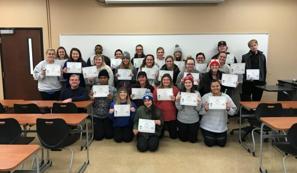 Hospitality Management Students Earn Industry Credentials