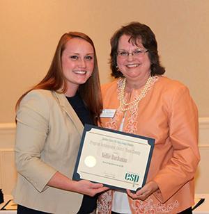 Nellie Buchanan, recipient of the Program Achievement County Team Award (not pictured: Sarah Fannin)