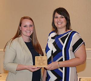 Amanda Dame, recipient of the Early Career Service Award