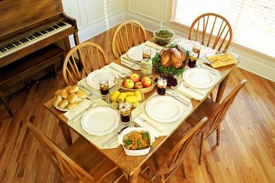 Table with healthy meal