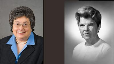 Peggy Hurt Powell, left, and Pauline Park Wilson Knapp