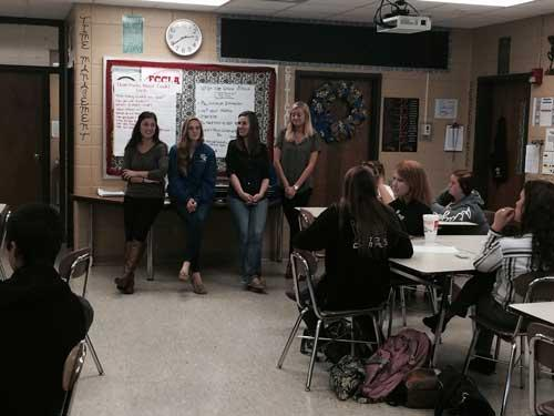 Hospitality Management Students and Faculty Visit Boyle County High School