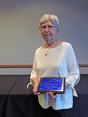 Wiley Berger Award: Sarah Henry, alumnus and retired Associate Dean for the College of Human Environmental Science