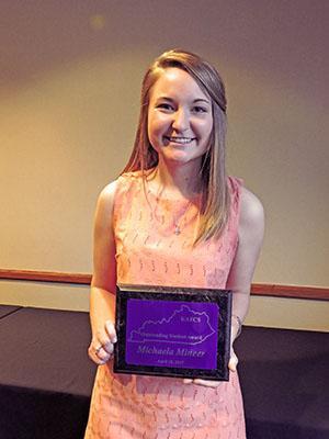 Outstanding Student Award: Michaela Mineer