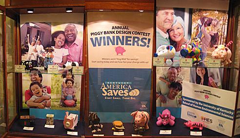 Piggy Bank Display of 2011 Winners