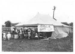 Girls Canning Club Tent