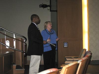 Dr. Addo and Dr. Vail leading a discussion on Ghana
