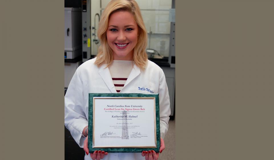 Hahnel Earns Six Sigma Green Belt Certification